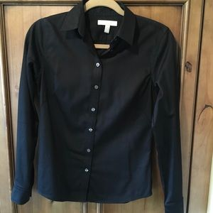 Banana Republic Petite Fitted Button Down Shirt
